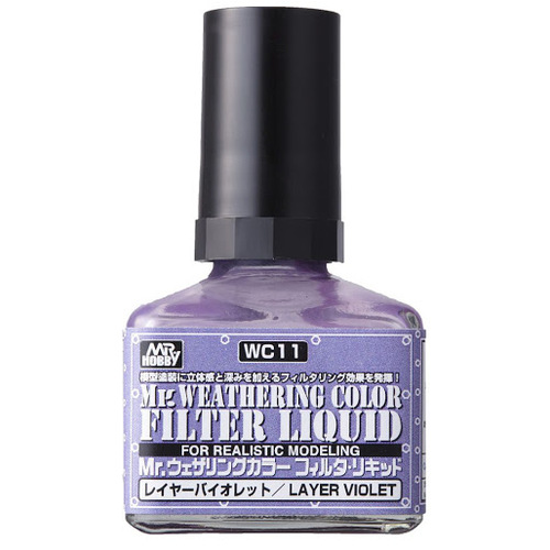 Mr Hobby Weathering Filter Liquid Violet WC11